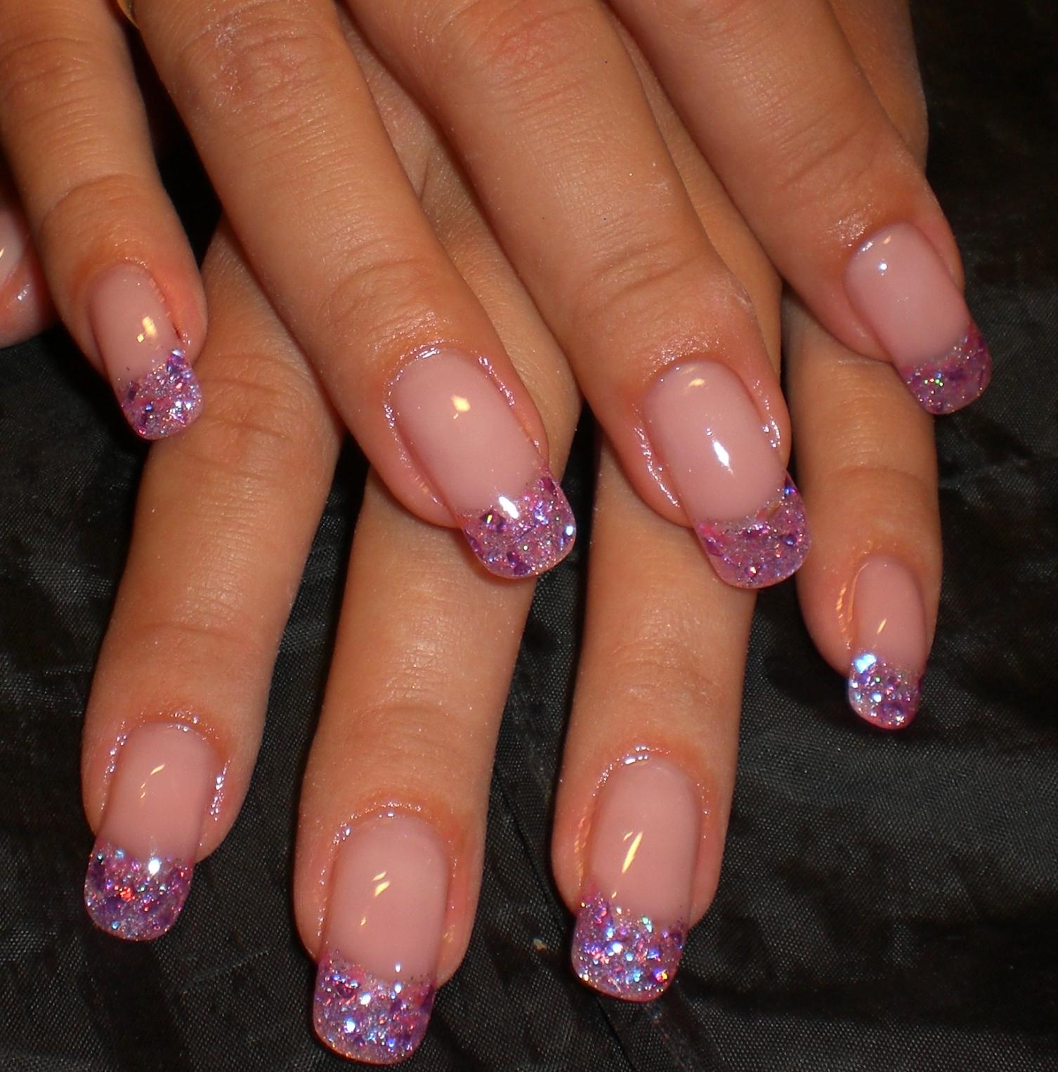 Нарощенные ногти средней длины дизайн фото